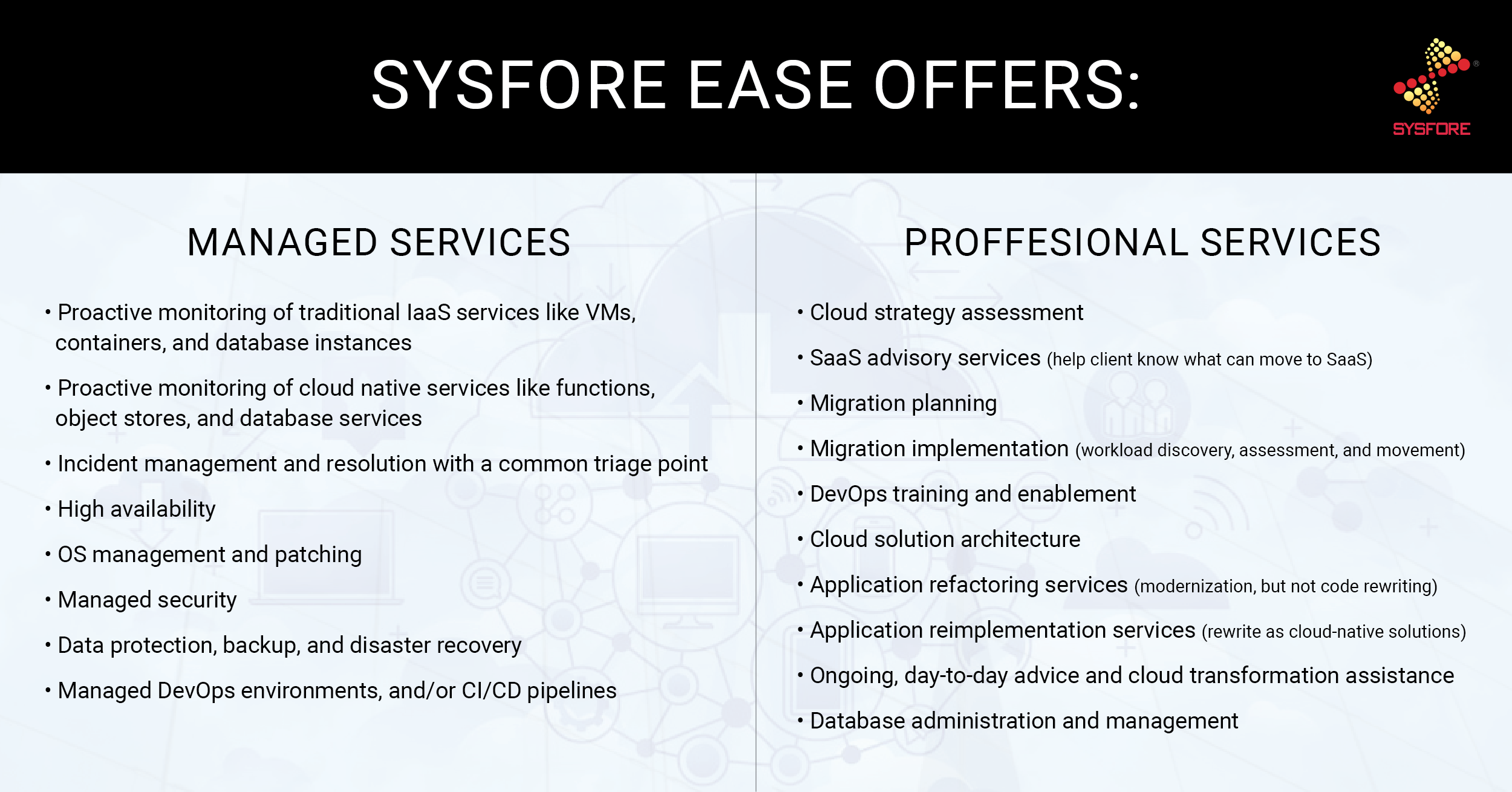 cloud migration: cloud managed services
